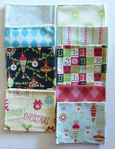 Christmas Fat Quarter Bundle of 9, Fat Quarters,  Isabelle Christmas by  Anna Griffin