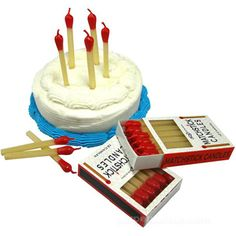 matchstick birthday candles for camping party