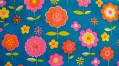 Vintage Mod Flower Power Cotton Fabric | eBay