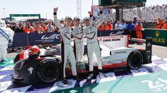 Brendon Hartley, Timo Bernhard, Earl Bamber, l-r, 919 Hybrid, FIA WEC, Le Mans 24-Hour, Le Mans, 2017, Porsche AG