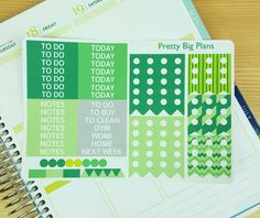 Planner Stickers for your Erin Condren, Filofax, Plum Paper Planner, MAMBI Happy Planner, etc.  This Green and Yellow St. Patricks Day List!