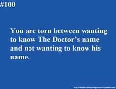 Side effects of watching Doctor Who
