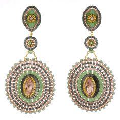 Miguel Ases Prehnite & Jade Earrings