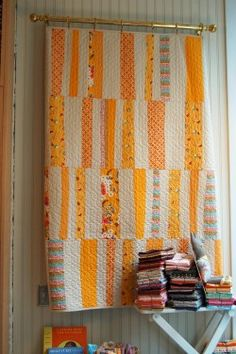 I love quilts designed by Denyse Schmidt. Every quilt I've made has been one of hers, or inspired by one of her designs.