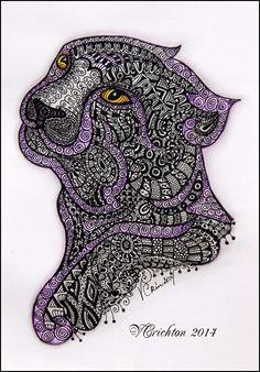 puma black_zentangle