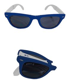 Take a look at this Royal Blue & White Foldable Sunglasses - Set of Two by Glass-U on #zulily today!