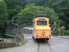 1950 gebaute Schleiflokomotive der Bogestra beim Bergischen Straßenbahnmuseum in Wuppertal