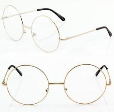 Oversized-MALINA-XL-Large-Big-Round-Circle-Thin-Metal-Frames-Eye-Glasses-Specs