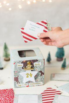 DIY - upcycling Familien-Adventskalender mit 24 Ideen für die Weihnachtszeit für Erwachsene und Kinder- Leelah Loves