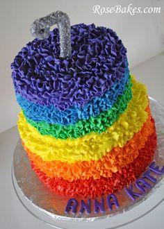 Rainbow Messy Ruffle