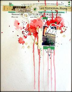 Love the splattered paint look . . . especially if I could journal along side it with my current thoughts and feelings! -- by Louise Nelson