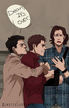 "Even tho I didn't like this scene in Soul Survivor (and I definitely don't like the fact that Demon Dean was only 3 episodes) I think this GIF art by castielssexappeal is really cool, so it deserves to be pinned.   Original post: horrible doodle animation because i have no time D"": I'm ashamed"