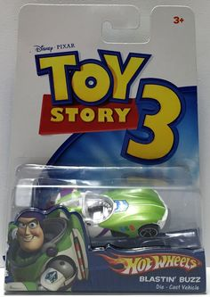 2009 Mattel Disney Pixar Hot Wheels Toy Story 3 - Blastin' Buzz This item is NOT in Mint Condition and is in no way being described as Mint or even Near Mint. Our toys have not always lead the perfect