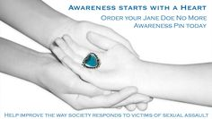 Awareness Heart for Sexual Assault by Mars and Valentine & Gilded Lily Jewelry