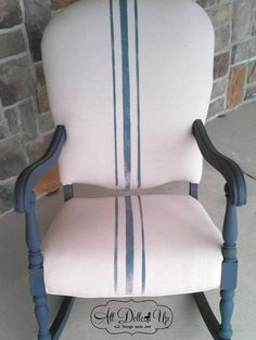 It is time to redo grandma's old chair....a little paint...a new slipcover and it will be good to go! Miss Mustard Seed's Milk Paint Tricks | Miss Mustard Seeds Milk Paint