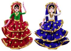 Gypsy Dancers - Wire Doll (Wire, Cloth and Wool) Hobbies And Crafts, Arts And Crafts, Janmashtami Decoration, Baby Ganesha, Bal Gopal, Wedding Doll, Pop Stick, Indian Dolls, Accesorios Casual