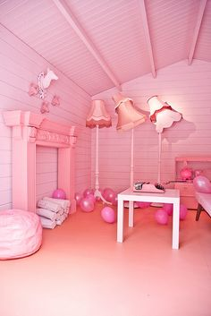 A pink room. This is amazing. :)