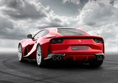 The 812 Superfast runs with quad taillights in keeping with the rest of the Ferrari range