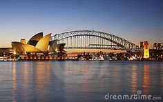 Sydney Opera House and Harbour Bridge Editorial Stock Photo