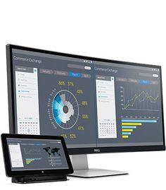 Monitor curvo Dell UltraSharp 34 - U3415W - Produtivo em todas as telas