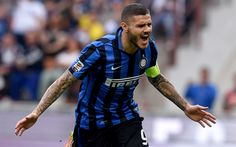 Download wallpapers Icardi, match, Inter Milan, Seria A, Mauro Icardi, Internazionale, footballers, soccer