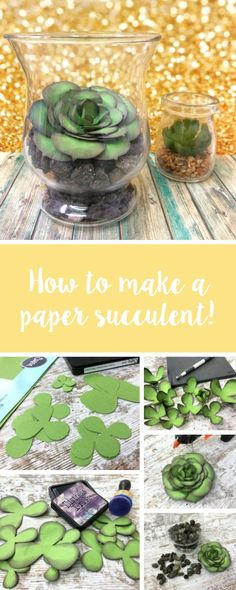 It's time to start thinking about bringing that Spring and Summer decor into your home. In this Sizzix tutorial, we'll show you to make your own DIY paper succulent using Sizzix dies. Feature your make with us using #mymakingstory - #papercrafts #succulents #paperflowers #homedecor #makersgonnamake #sizzix #sizzixbigshot