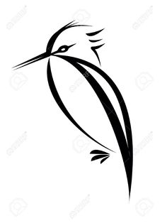 3592455-bird-silhouette-isolated-on-white-background-Stock-Photo-kingfisher-tattoo-outline.jpg (974×1300)