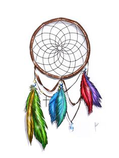 Dream Catcher Color by ~packness on deviantART
