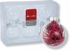 JOLLY & JOY DIY GLASS BAUBLES 6PK 60MM French Table Setting, Christmas Diy, Table Settings, Joy, Glass, Drinkware, Glee, Corning Glass, Place Settings