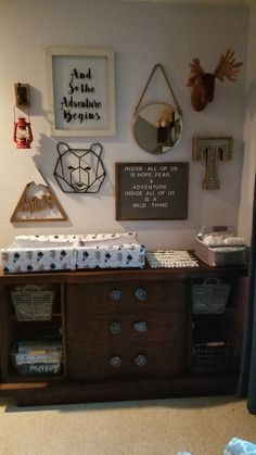 Ideas baby boy nursery woodland deer heads for 2019 Woodland Nursery Boy, Bear Nursery, Woodland Nursery Decor, Nursery Room, Woodland Baby, Cabin Nursery, Forest Nursery, Nursery Twins, Baby Boy Rooms