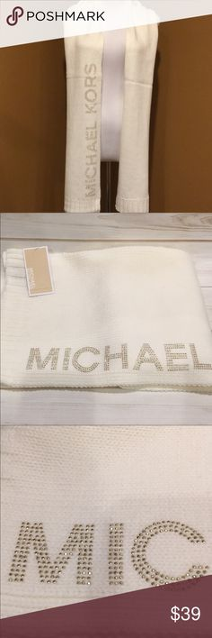 🆕 Michael Kors Scarf Michael Kors Cream Scarf with Michael Kors Gold Lettering. Great buy for the fast approaching winter season. Shop my closet for all your MK accessories 💕 Huge variety Michael Kors Accessories Scarves & Wraps