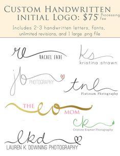 Custom Handwritten Initial Logo