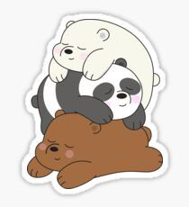 Official We Bare Bears fan art featuring your favorite characters. Stickers Kawaii, Cute Stickers, We Bare Bears Wallpapers, Cute Wallpapers, Desenho Harry Styles, Cute Bear Drawings, Homemade Stickers, We Bear, Ice Bear We Bare Bears