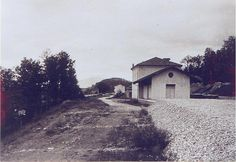 The old train station Bivio Latronico, officially closed in 1979, at contrada Pecorone (20s).