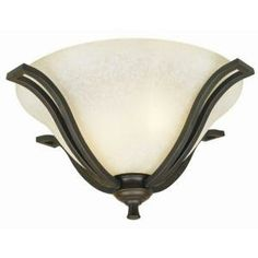 Design House Ironwood 2 Light Statuary Bronze Flush Mount Ceiling Light  Fixture 509224 At