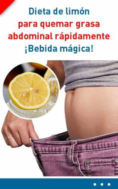 Dieta de limón para quemar grasa abdominal rápidamente. ¡Bebida mágica!