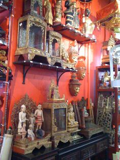 Burmese shrines at Cargo