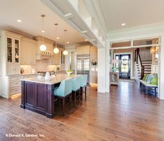 This open #kitchen is any chef's dream! http://www.dongardner.com/house-plan/1211/the-rangemoss. #OpenConcept #FloorPlan