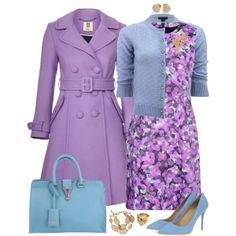 """Purple Coat"" by angela-windsor on Polyvore"