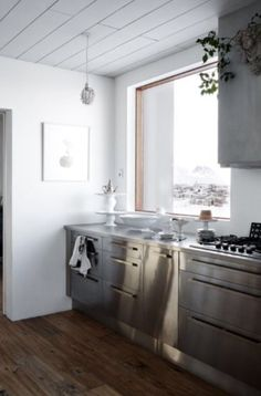 """This very nice steel kitchen is from our feature """"Villa Iceland"""""""