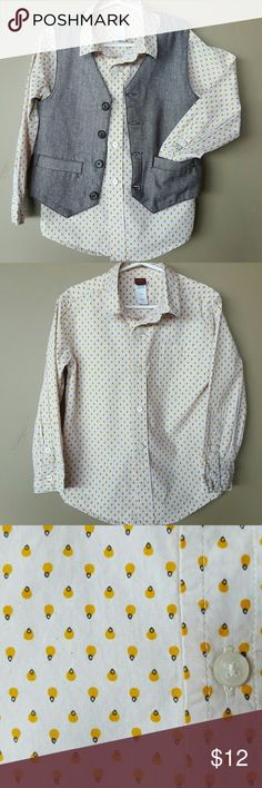 TEA COLLECTION boy's long sleeve button down. This boys button down is so handsome on! Especially with Vest (NOT INCLUDED,  see my closet-Bundle). Gently worn, in Great condition. Tea Collection Shirts & Tops Button Down Shirts