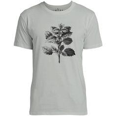 Mintage Wild Nettle Illustration Mens Fine Jersey T-Shirt (Silver)