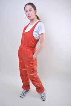 Ellesse orange suspenders ski suit, woman snow jumpsuit, Size M Welcome to TARASCOMMON. Model tall - Size: M. Ellesse, Orange, Browns Gifts, Snow Pants, Couture, Unique Outfits, Suspenders, Suits For Women, Skiing