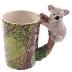 Coffee Mug Novelty Ceramic Jungle Mug with Koala by getgiftideas