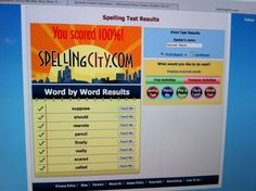 Lesson 5 of Phonetic Zoo has you review words that are you consistently spell wrong; so Hannah practiced these 8 words on Spellingcity.com until she got them right!