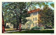 Berea Kentucky KY 1939 Lincoln Hall Berea College Antique Vintage Postcard