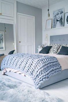 Cobertores De Tricô De Braço  Arm Knitting Decoração Pra Quarto 9590c71d5a3