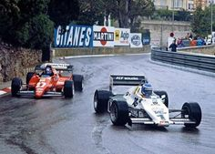 Keke Rosberg on his way to a win at Monaco in 1983 driving a Williams-Ford.