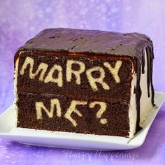 "Cut a slice of this unassuming chocolate cake to reveal the big question… Will You ""Marry Me?"" If you are looking for a really unique way to propose to the love of your life, this cake is it. When your true love cuts into the cake, your intentions will be revealed. I'd like to say...Read More »"