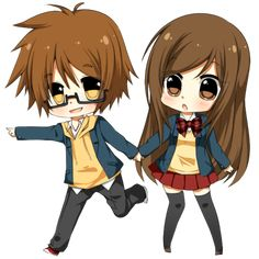 cute anime couple | Cute anime chibi couples pictures 1